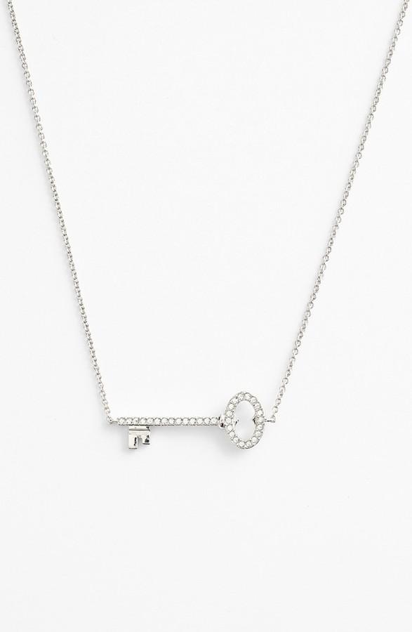 Nadri Boxed Pavé Key Pendant Necklace