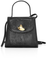 Little Liffner Little Lady Swirl Lizard-Embossed Leather Top Handle Bag
