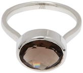 Monica Vinader Silver Smoky Quartz Candy Ring
