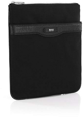 HUGO BOSS Signature Collection crossbody envelope bag with leather trim