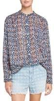 Etoile Isabel Marant Nahla Print Cotton Shirt