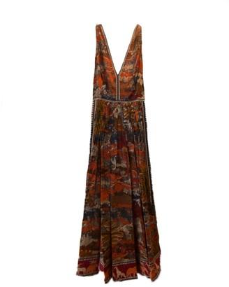 Le Sirenuse Sophia V-Neck A-Line Dress