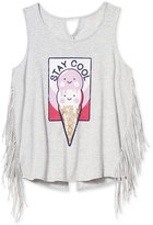 Jessica Simpson Stay Cool Ice Cream Fringe T-Shirt, Big Girls (7-16)