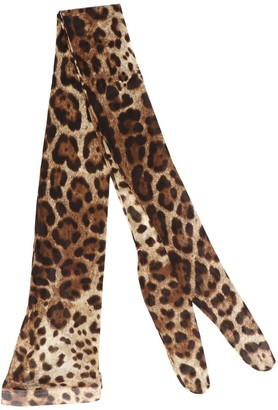 Dolce & Gabbana Leopard Printed Tights