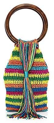 All Things Mochi Women's Rainbow Kai Woven Top Handle Bag
