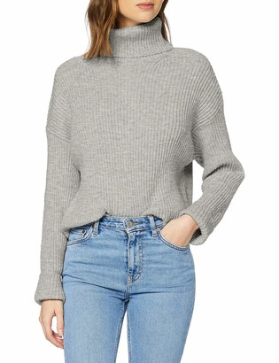 New Look Women's Op Mtj Roll Neck Jumper Sweater