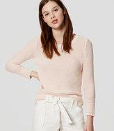 LOFT Edged Cotton Sweater