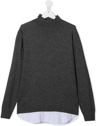 Paolo Pecora Kids TEEN knit-shirt long sleeve top