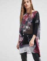 Religion Smock Top In Tie Dye