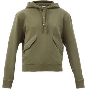 Saint Laurent Cotton-jersey Hooded Sweatshirt - Khaki