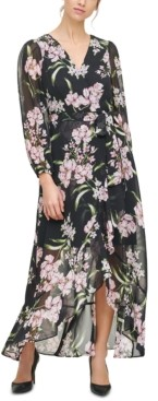 Jessica Howard Petite Printed Chiffon Maxi Dress