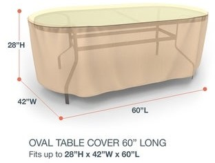 Budge Waterproof Outdoor Patio Table Cover, Sedona, Tan, Multiple Sizes