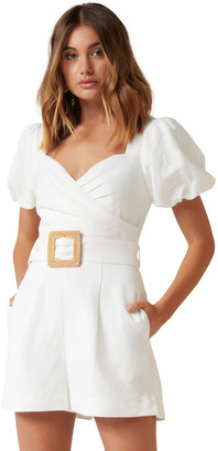 Forever New Nadia Sweetheart Belted Playsuit