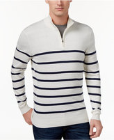 Club Room Men's Striped Half-Zip Sweater, Only at Macy's