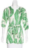 Mara Hoffman Silk Jersey Dolman Sleeve Top