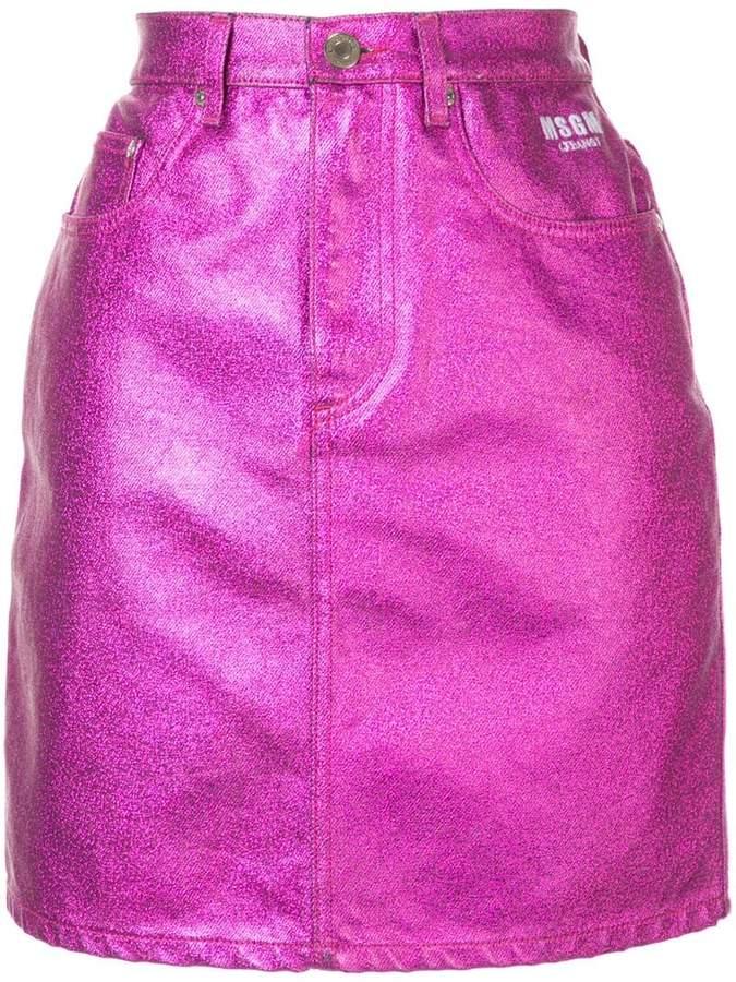 352a4646a2 Purple Denim Skirt - ShopStyle