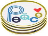 Jonathan Adler Peace & Love Porcelain Coasters