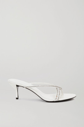 3.1 Phillip Lim Kiddie Crystal-embellished Leather Sandals - White