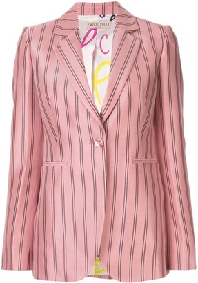 Emilio Pucci Single-Breasted Striped Blazer