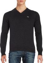 Lacoste Cotton V Neck Sweater