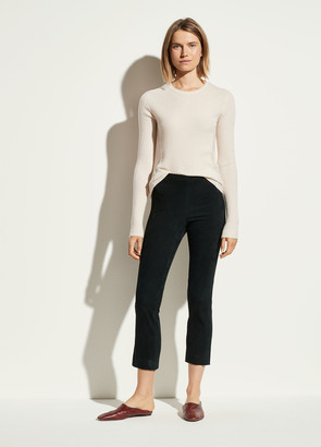 Vince Stretch Suede Split Hem Crop