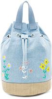 Stella McCartney Kids Gardenia Bucket Backpack in Blue.