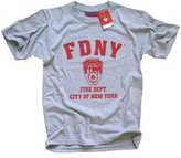 New York Fashion Police FDNY T-SHIRT Crewneck New York Fire Department Athletic Tee, - X-Large