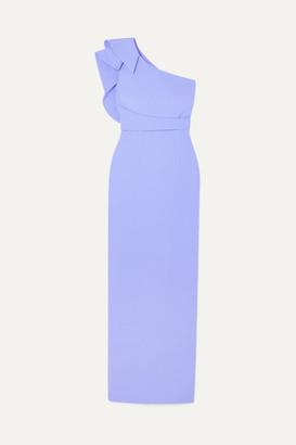 Safiyaa Ethera One-shoulder Draped Crepe Gown - Lilac