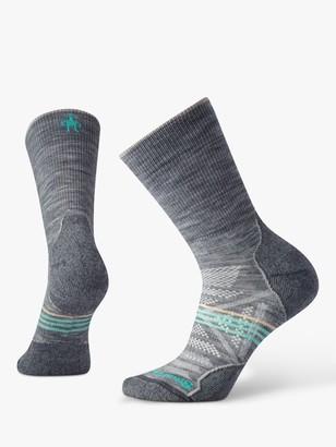 Smartwool PhD Outdoor Light Crew Hiking Socks, Light Grey