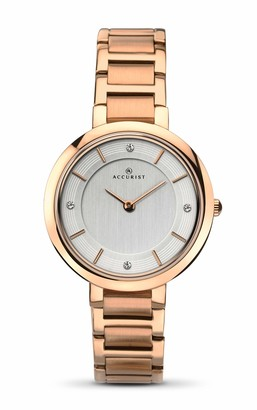 Accurist Womens Analogue Japanese Quartz Watch with Stainless Steel Strap 8152.01