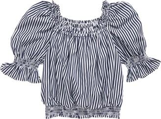 Habitual Stripe Puff Sleeve Top