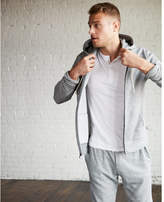 Express vintage fleece zip-front hoodie