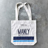 NEW Manly canvas tote bag by RelleK Co