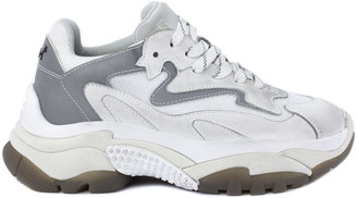 Ash White And Grey Addict Sneakers