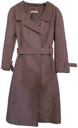 Prada Pink Silk Trench coats