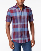 Alfani Men's Slim-Fit Plaid Shirt, Only at Macy's