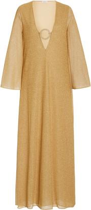 Oseree Embellished Lurex Maxi Dress