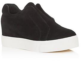 J/Slides Women's Starr Slip-On Platform Wedge Sneakers