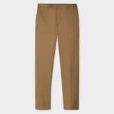 Paul Smith Men's Slim-Fit Taupe Stretch-Cotton Twill Trousers
