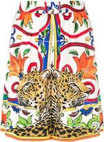 Dolce & Gabbana floral leopard shorts