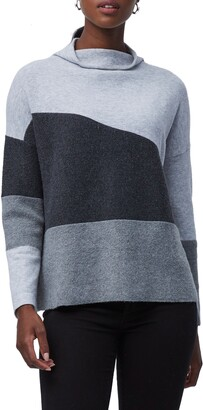 French Connection Sophia Funnel Neck Colorblock Sweater