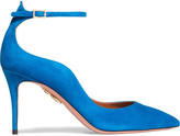 Aquazzura Dolce Vita Suede Pumps - Bright blue
