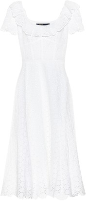 Polo Ralph Lauren Linen eyelet-lace midi dress