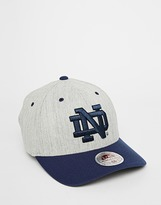 Mitchell & Ness Stretch Notre Dame Fitted Cap - Grey