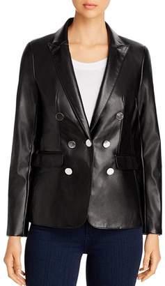 Calvin Klein Faux-Leather Blazer