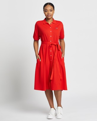 Lacoste Classic Belted Polo Dress