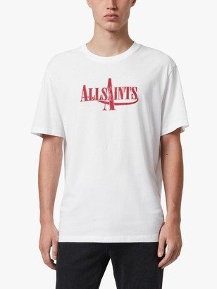 AllSaints Moto Logo Short Sleeved T-Shirt