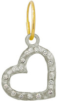 Lee Brevard Compass Heart Earring w/ Cubic Zirconia, Single