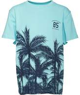 Kangaroo Poo Boys Palm Print T-Shirt Angel Blue