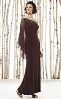 Mon Cheri Cameron Blake by Mon Cheri - 211622 Long Dress In Brown